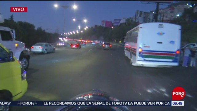 liberan circulacion en la mexico pachuca bloqueada por transportistas