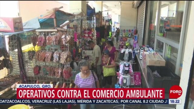 FOTO: liberan via publica de vendedores ambulantes en acapulco