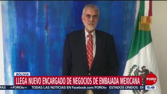 FOTO: 3 enero 2020, llega nuevo encargado de negocios a embajada de mexico en bolivia