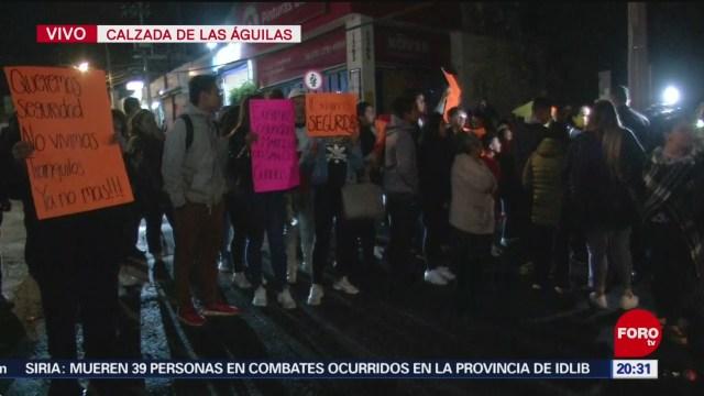 Foto: Manifestantes Bloquean Calzada Las Águilas Cdmx 16 Enero 2020