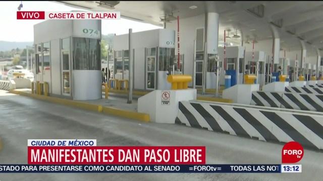manifestantes permiten paso libre en la mexico cuernavaca