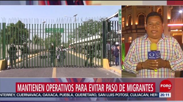 Foto: Operativos Evitar Ingreso Migrantes Frontera Sur 21 Enero 2020