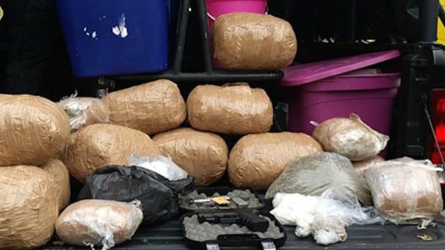 Foto: Policía de CDMX decomisa 50 kilos de presunta droga en Venustiano Carranza, 19 de enero de 2020, (SSC)