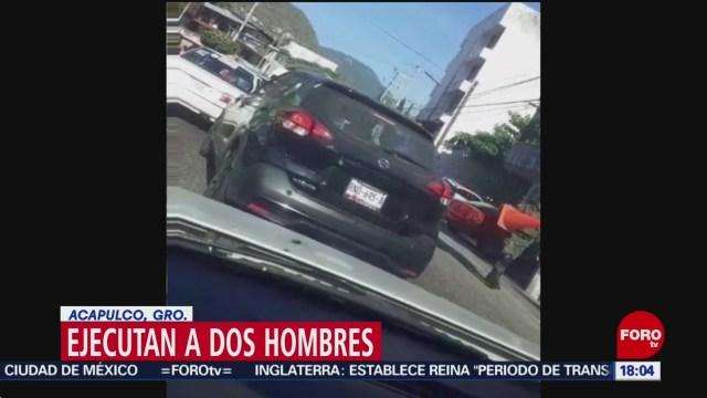 FOTO: mata a dos hombres en pie de la cuesta en acapulco