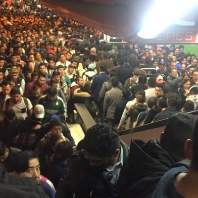 Usuarios reportan retrasos y saturación en Línea 7 del Metro de CDMX