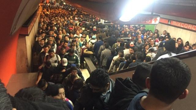 Saturación en la Línea 7 del Metro de CDMX.