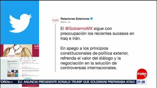 FOTO: 5 enero 2020, mexico convoca a iran y ee uu a actuar con mesura