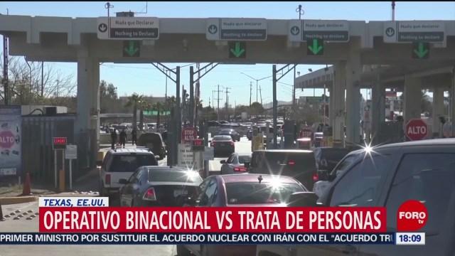 FOTO: mexico y eeuu ponen en marcha operativo contra la trata de personas