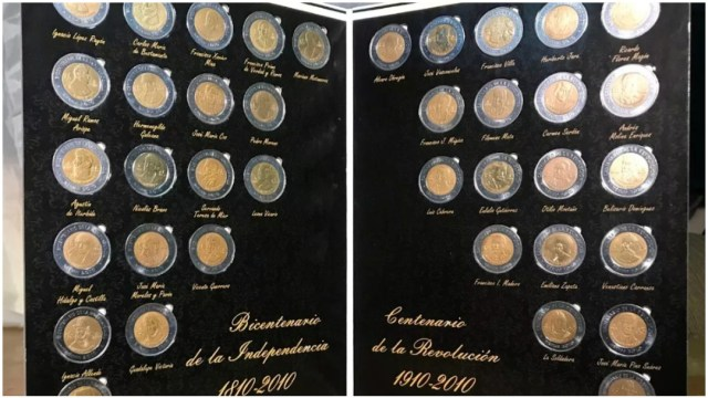 Imagen: Monedas de cinco pesos del Bicentenario se comprarían hasta en mil pesos, 19 de enero de 2010 (Banxico)