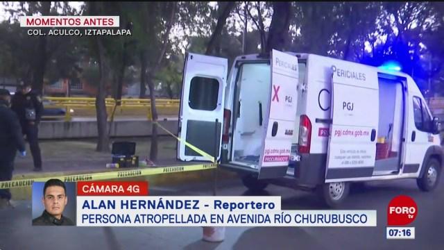 muere hombres tras ser atropellado en avenida rio churubusco