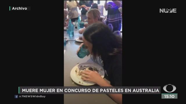 FOTO: muere mujer durante concurso de comer pasteles