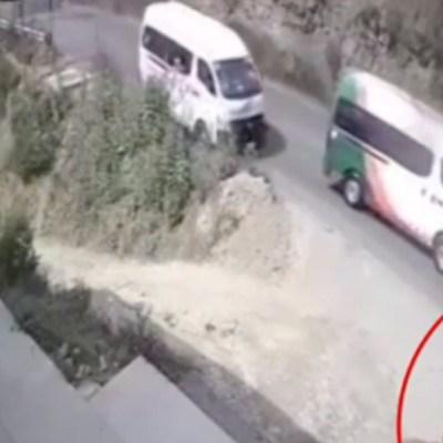 FOTO: Muere policía tras ser atropellado por transporte público en Edomex, el 26 de enero de 2020