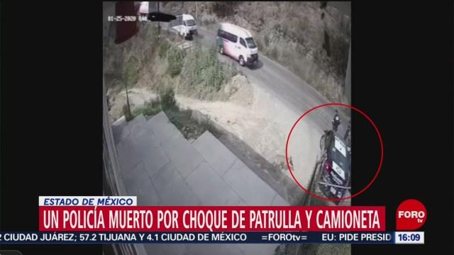 FOTO: 26 enero 2020, muere policia tras ser atropellado por transporte publico en edomex