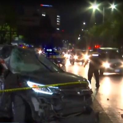 Muere una mujer en choque en Circuito Interior, CDMX