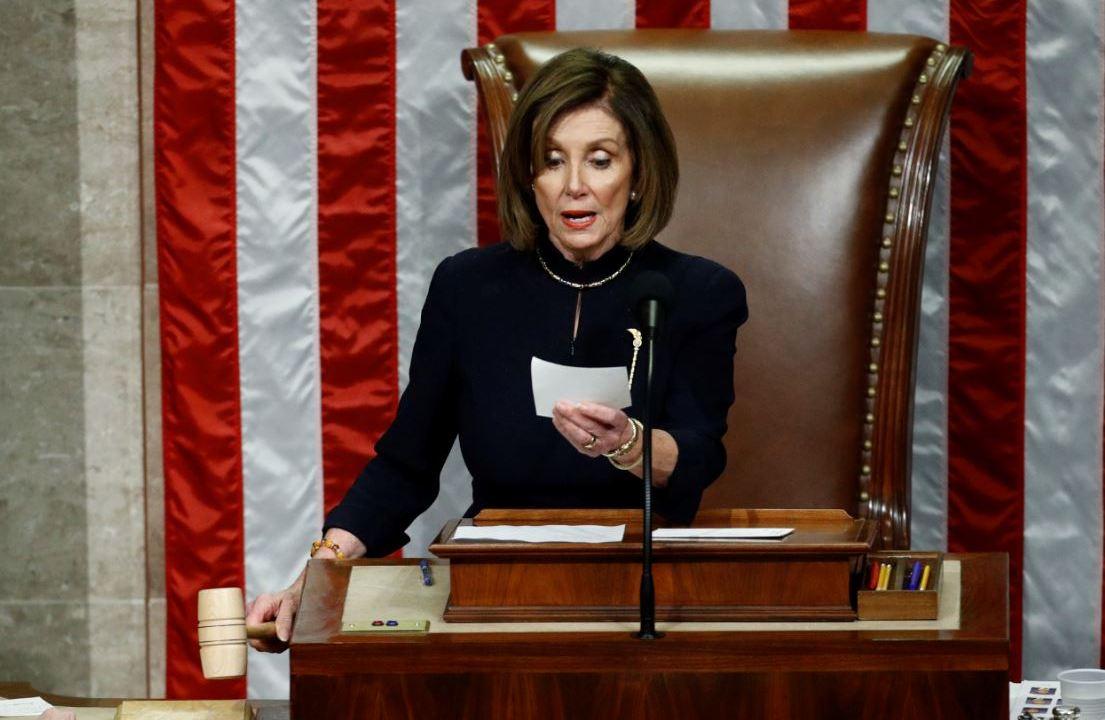 FOTO: La líder de los demócratas en el Congreso estadounidense, Nancy Pelosi, el 12 de enero de 2020