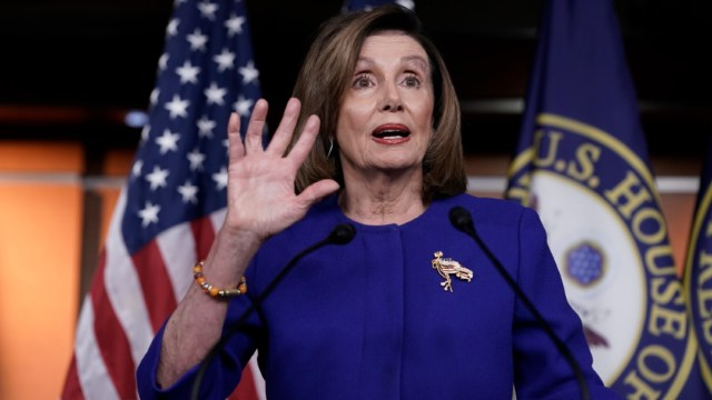 Foto: Nancy Pelosi, presidenta demócrata en la Cámara de Representantes, 9 enero 2020