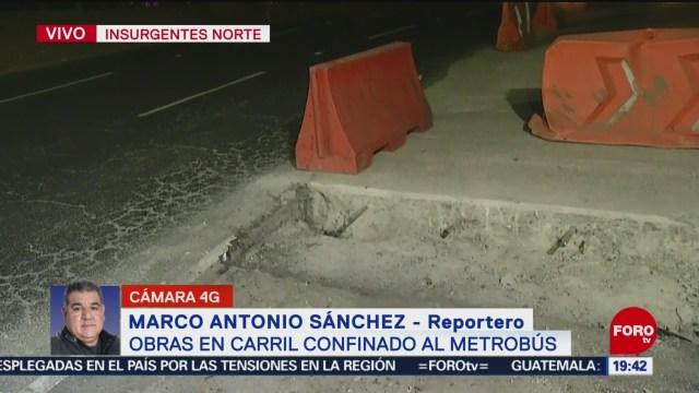 Foto: Metrobús Obras Carril Confinado Tráfico Vial 8 Enero 2020