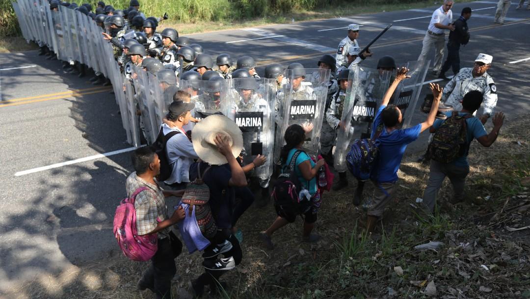 Foto: ONU pide a México evitar uso de la fuerza con migrantes
