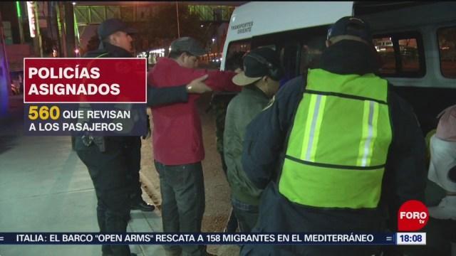 FOTO: operativo pasajero seguro para evitar asaltos en transporte