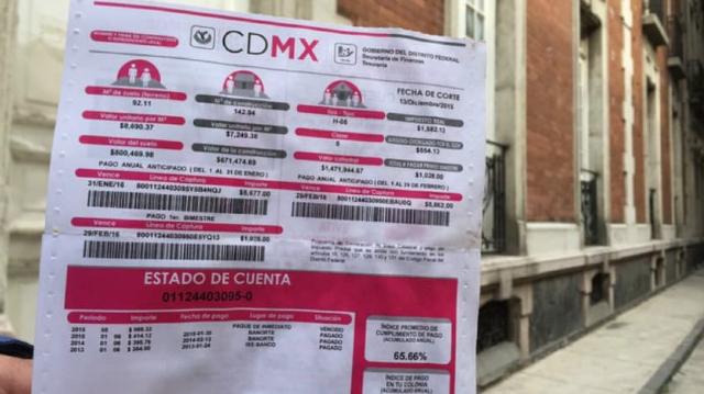 15 de enero 2020, Pago de Predial México, Recibo, Estado de Cuenta, Impuestos, Predial