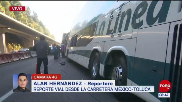 percance automovilistico en la autopista mexico toluca