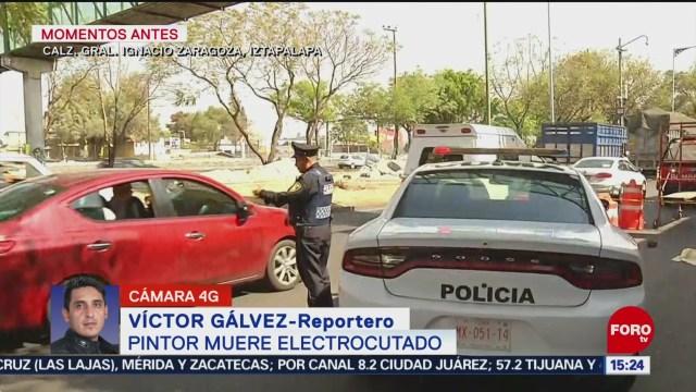 FOTO: 25 enero 2020, pintor muere electrocutado en iztapalapa