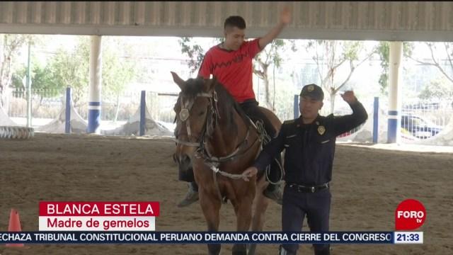 Foto: Policía Montada Ofrece Sesiones Gratuitas Equinoterapia 14 Enero 2020
