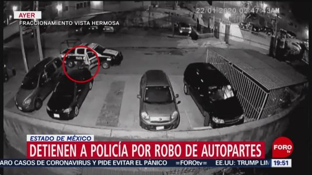 Foto: Video Policía Roba Autopartes Detienen Nicolás Romero 23 Enero 2020