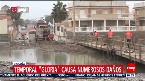 Foto: Provincias España Declaradas Zonas Catástrofe Gloria 22 Enero 2020