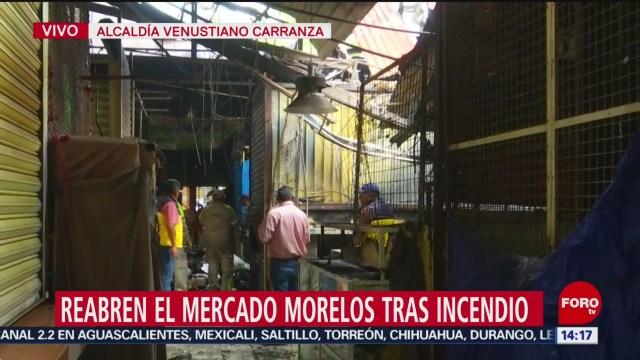 FOTO: reabren mercado morelos tras incendio