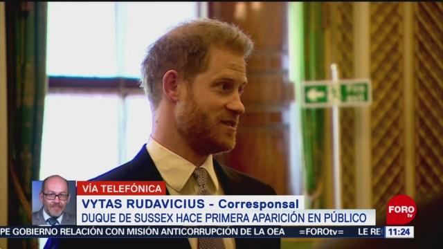 FOTO: 18 enero 2020, reaparece el principe harry en uno de sus ultimos deberes reales