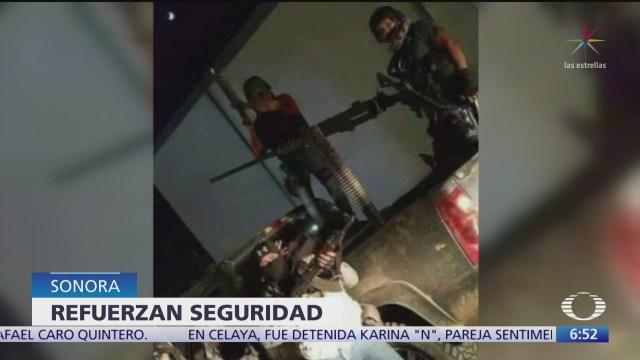 refuerzan seguridad en sonora tras supuesto convoy del cartel de sinaloa