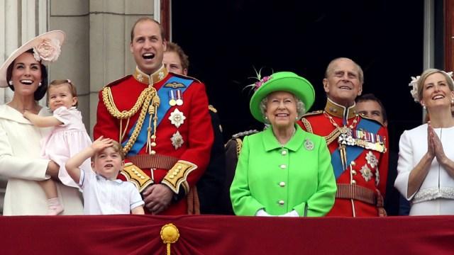 La reina Isabel II durante la celebración de su cumpleaños.