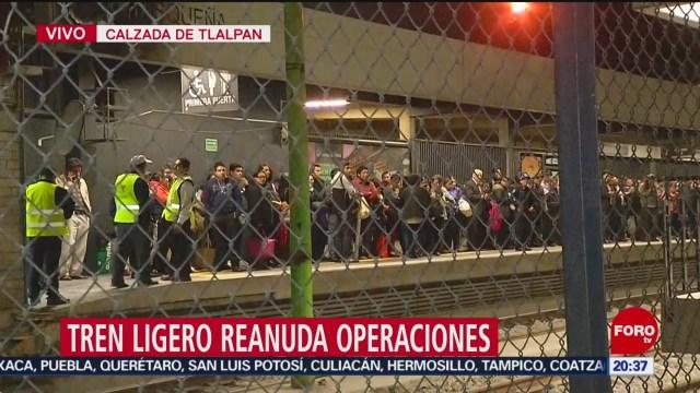 Foto: Tren Ligero CDMX Retrasos Genera Descontento Usuarios 16 Enero 2020