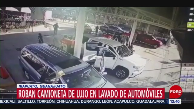roban camioneta en lujo en local de lavado de autos