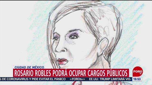 Foto: Rosario Robles Suspensión Inhabilitación Cargos Públicos 23 Enero 2020