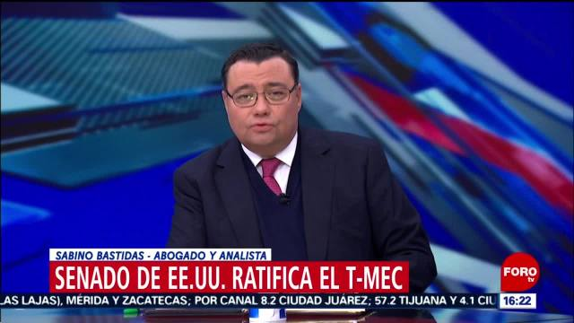 FOTO: sabino bastidas y luis de la calle analizan ratificacion del t mec en eeuu
