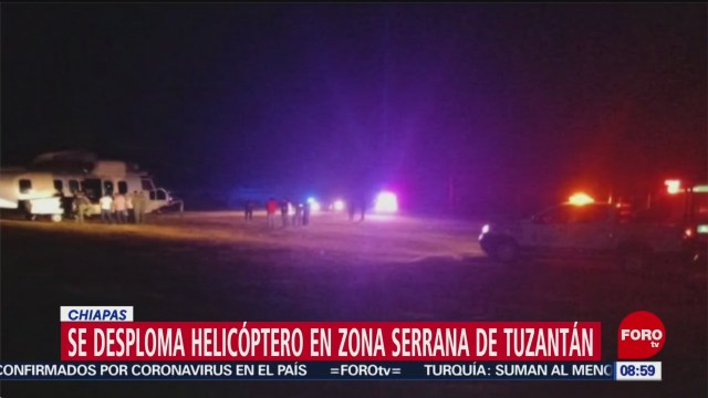 FOTO: 26 enero 2020, se desploma helicoptero en tuzantan chiapas muere el piloto