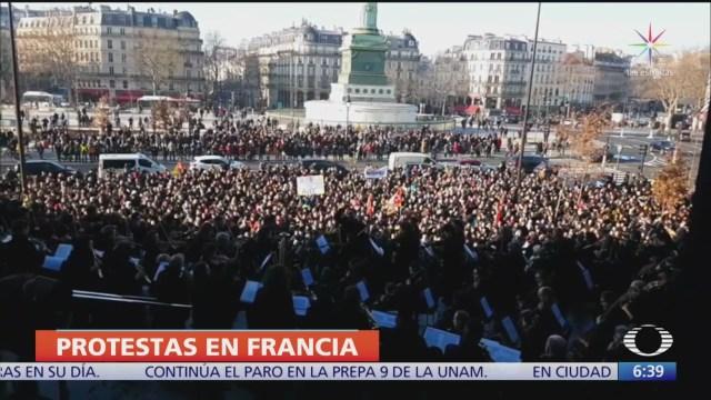 se extiende huelga de francia a otros sectores