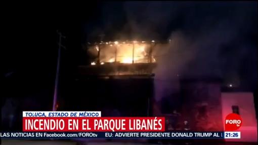 Foto: Parque Libanés Toluca Incendio Hoy 17 Enero 2020