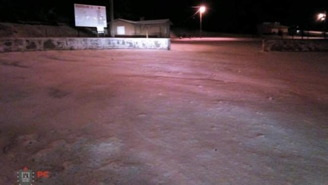 Caída de nieve en 'Cofre de Perote' y Pico de Orizaba