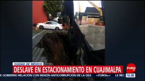 FOTO: 18 enero 2020, se registra deslave en cuajimalpa no hay heridos