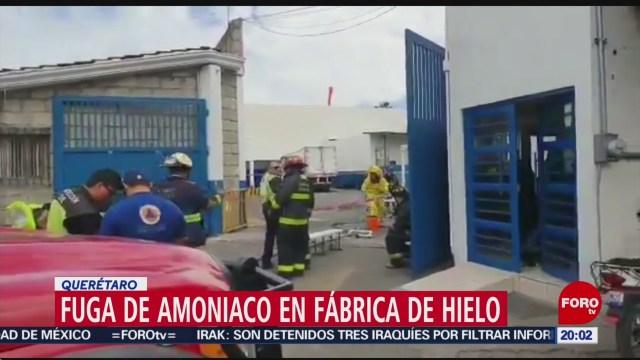 FOTO: 11 enero 2020, se registra fuga de amoniaco en fabrica de hielo en queretaro