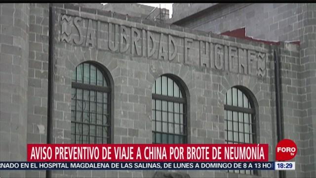 FOTO: secretaria de salud emite aviso preventivo de viaje a wuhan china