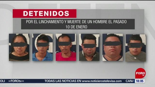 FOTO: seis detenidos por linchamiento en cacahoatan chiapas
