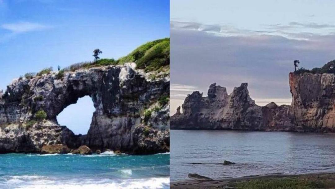 FOTO Sismo en Puerto Rico derrumba emblemática 'Ventana del Caribe' (Nuevo Herald)