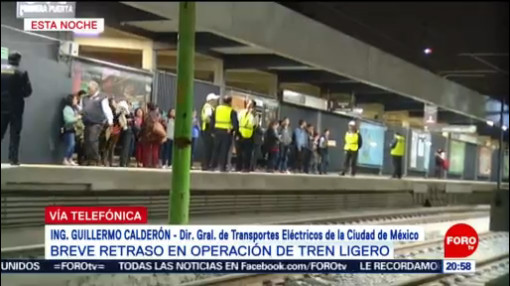 Foto: Tren Ligero Sobrecarga Eléctrica Provocó Retraso 16 Enero 2020