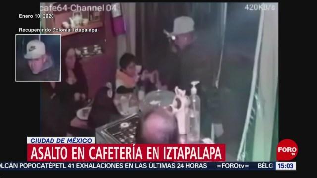 FOTO: sujetos armados asaltan cafeteria en iztapalapa