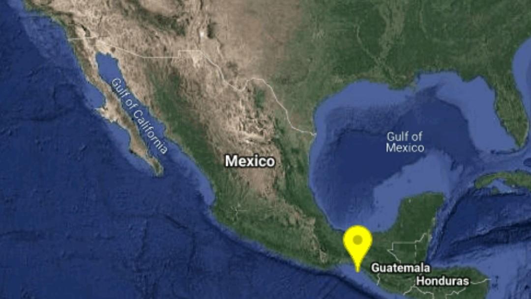 Foto: El sismo se registró a 61 kilómetros al Sur de este municipio, con coordenadas Lat. 15.54 Lon. -93.84 y una profundidad de 76 kilómetros