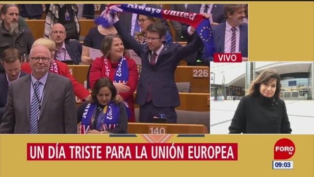 un dia triste para la union europea tras la salida de reino unido